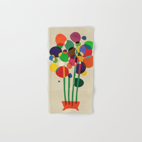 Happy flowers in the vase Hand & Bath Towel