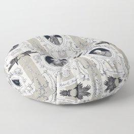 My favorite Authors Toile de Jouy Floor Pillow