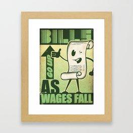 Wealth Divide Framed Art Print