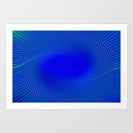 Electric Blue Swirl Art Print
