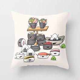 Kawaii Sushi Throw Pillow