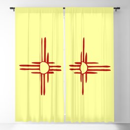 Flag of new mexico hand drawn 1 Blackout Curtain