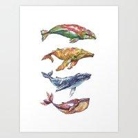 The Whales Art Print
