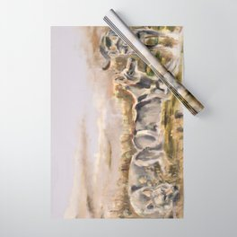 Totem wolf Sunset Wrapping Paper