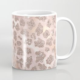 Rosegold Blush Leopard Glitter Coffee Mug