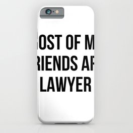 funny lawyer iPhone Case