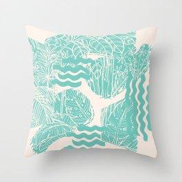 Jungle Green Throw Pillow