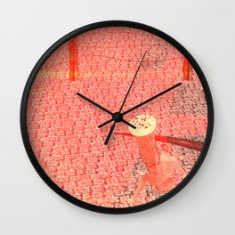 Squared: Castrated by Sun Wall Clock