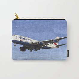 One World Boeing 747 Art Carry-All Pouch