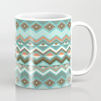 aztec Mugs featuring Aztec by Priscila Peress