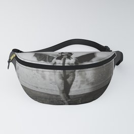 winged nude with gas mask Fanny Pack