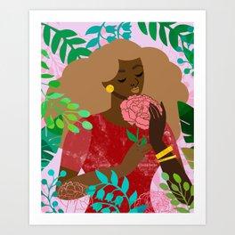 Carnation in January Art Print