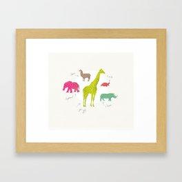 Animal Time Framed Art Print