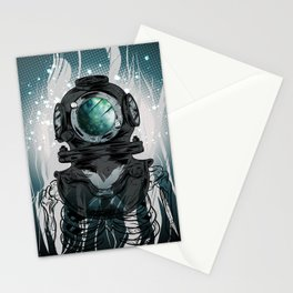 Deep Space Diver Stationery Cards