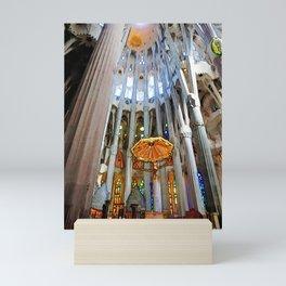 Sagrada Familia by Gaudi, Barcelona Cathedral | Jesus On The Cross Mini Art Print