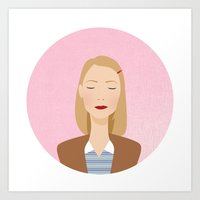 tenenbaum Art Prints featuring margot tenenbaum by WreckThisGirl
