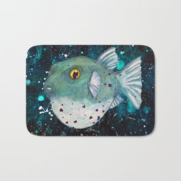 Friendly Green Fugu Redux Bath Mat