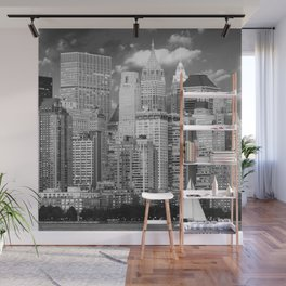 Manhattan in Black & White (New York, NY, USA) Wall Mural