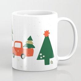 Christmas Tree / Truck / Vintage / Retro / Fir / Spruce / Winter Wonderland / Pine Tree Coffee Mug