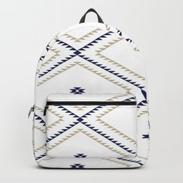 Navajo Pattern - Tan / Navy / White Backpack