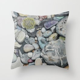 Beach4 Throw Pillow