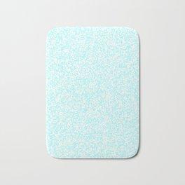 Tiny Spots - White and Celeste Cyan Bath Mat