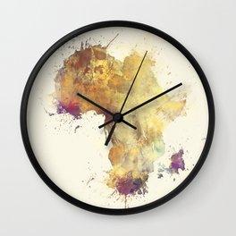 Africa map 5 #africa Wall Clock