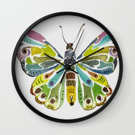 Colorful Butterfly Wall Clock