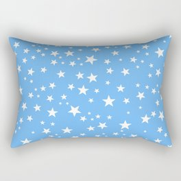 Space and stars blue background Rectangular Pillow