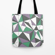 Geo - purple, green, gray and white. Tote Bag