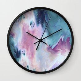 Abstract Art- Watercolor Art- Fractal Art- Blue Art- Ocean- Water- Marann Wall Clock