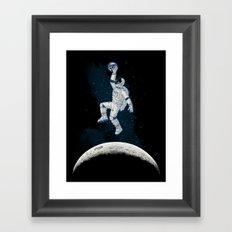 SPACE SLAM DUNK Framed Art Print