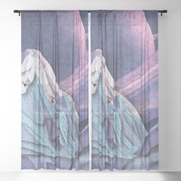 Night Mountains No. 19 Sheer Curtain
