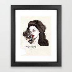"Lana ""The saddest,baddest diva in Rock"" Framed Art Print"