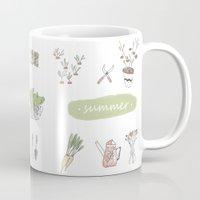 calendar Mugs featuring Calendar Garden`15 by Inga Provorova