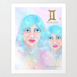 Geminis Queen Art Print
