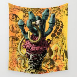 Magic Rocket Shroom Eye Wall Tapestry