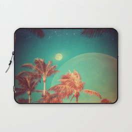 Moon Over Miami // Palm Trees Beach Island Florida Stars Space Digital Collage Astronomy Sunset Laptop Sleeve