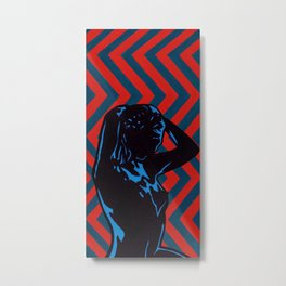 Molly II [stereoscopic/anaglyph 3D op art] Metal Print