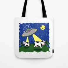 Cow Abduction! Tote Bag