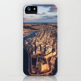 The Three Cities Senglea Malta   Aerial  iPhone Case