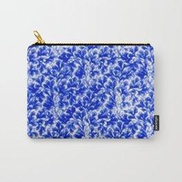 Vintage Floral Lace Leaf Sapphire Blue Carry-All Pouch