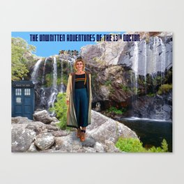 The Doctor and the Mountain Lake Canvas Print