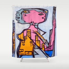 Lizard Lady Shower Curtain