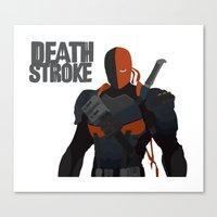 deathstroke Canvas Prints featuring Deathstroke art by Design Sparks