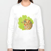 chameleon Long Sleeve T-shirts featuring Chameleon by Nina Ezhik