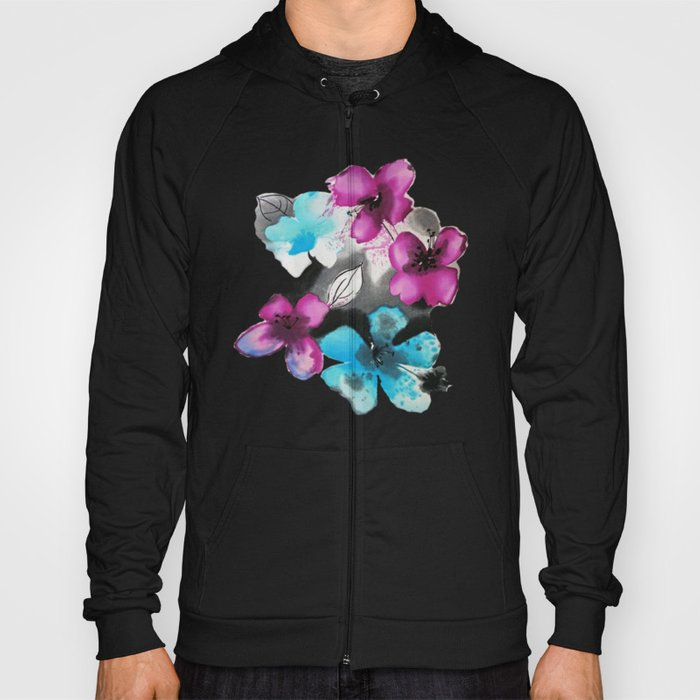 Watercolor flowers Hoody