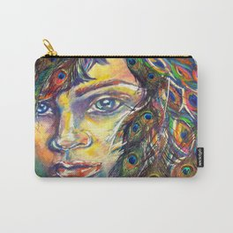 The Peacock Woman Carry-All Pouch