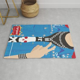 The Young Ones Poster Series :: Vyvyan Rug