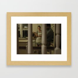 Behind Closed Doors Framed Art Print